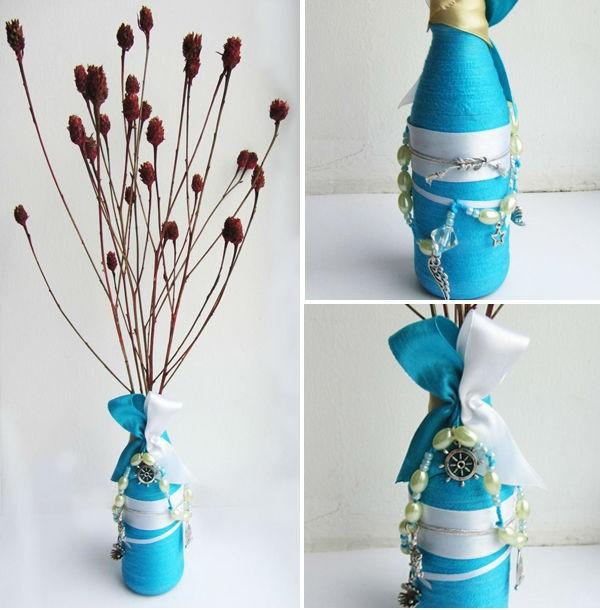 Biến chai thủy tinh cũ thành bình cắm hoa xinh 13