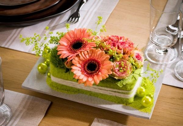 Kết quả hình ảnh cho hoa đồng tiền trang trí bàn tiệc