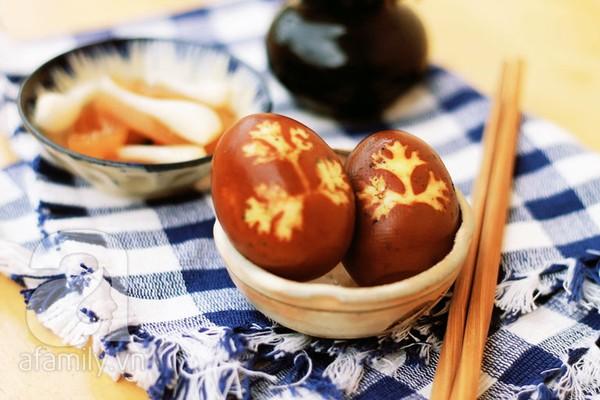 Trứng kho in hình lá ngon miệng đẹp mắt 15