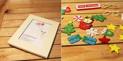 Đáng yêu khung ảnh Noel mẹ làm tặng bé 3