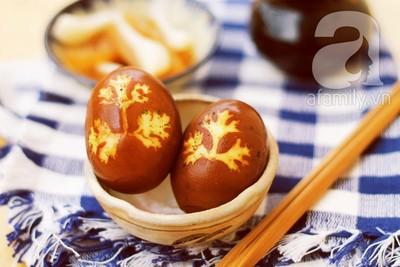 Trứng kho in hình lá ngon miệng đẹp mắt 13