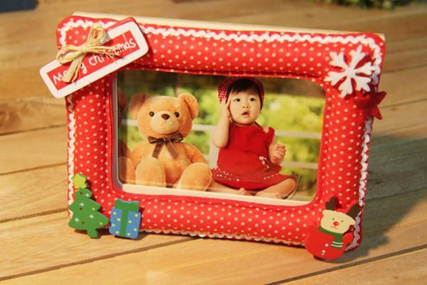 Đáng yêu khung ảnh Noel mẹ làm tặng bé 1