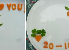 5 kiểu trang trí đĩa ăn kèm theo những lời chúc thật ý nghĩa