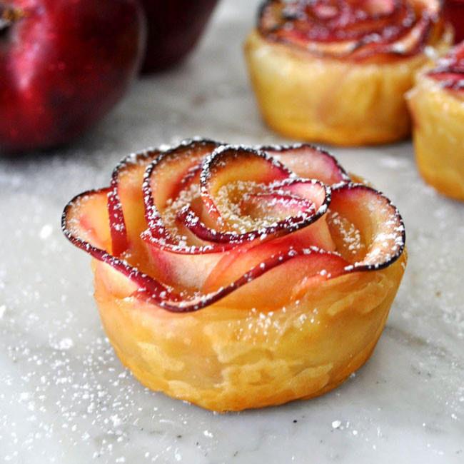 Bánh táo hình hoa hồng thơm ngon đẹp mắt - Làm bánh