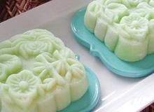 Bánh Trung thu dẻo lá dứa nhân đậu xanh hấp dẫn