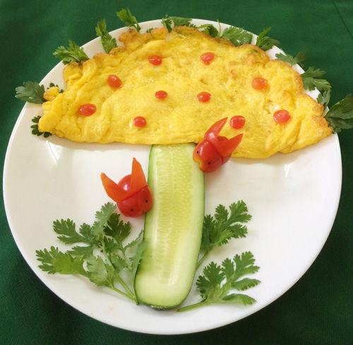 Trứng chiên phô mai hình nấm cho bé - Thực phẩm - Món ăn - Thức uống
