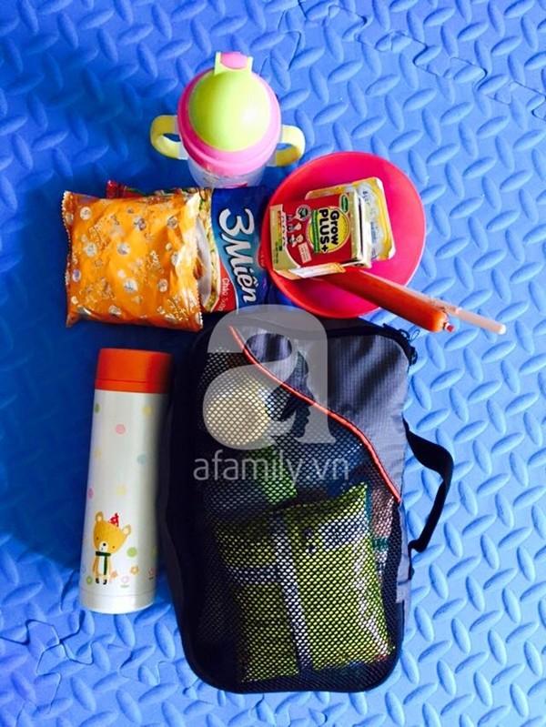 Chuẩn bị đồ cho con đi du lịch 4