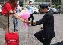 Ghen tị với màn cầu hôn của ông trùm hoa hậu với cô tiếp viên hàng không