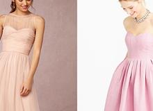 20 mẫu váy phù dâu màu hồng phấn đẹp yêu kiều mà không lấn át cô dâu