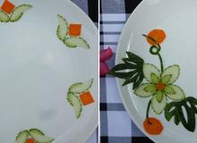 2 cách cắt dưa leo cà rốt cực dễ để tạo 5 kiểu trang trí đĩa ăn cực đẹp