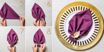 Trang trí bàn ăn với 3 cách gấp khăn ăn tinh tế - Khéo tay
