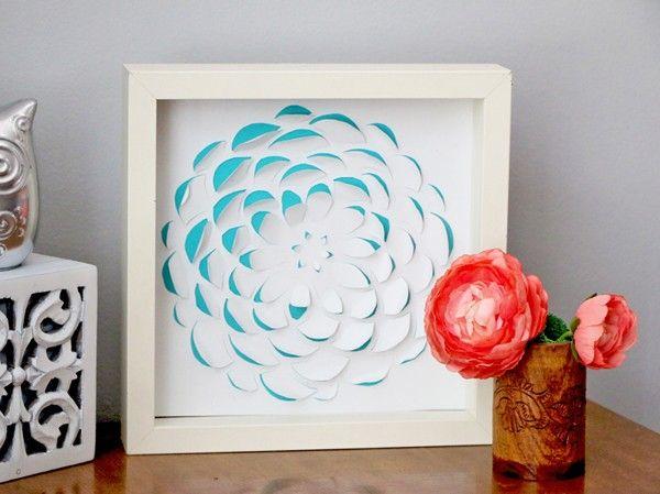 Trang trí nhà tinh tế với tranh hoa 3D - Khéo tay