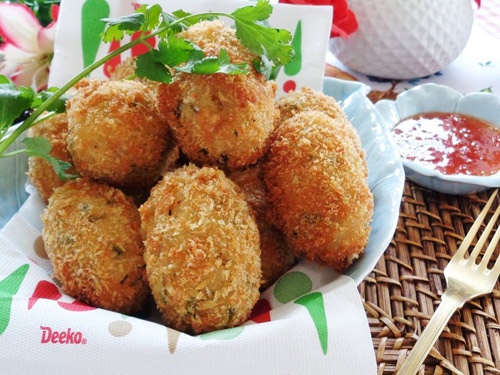 Khoai tây mì tôm chiên giòn cho bé - 9