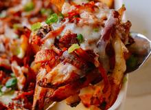 Kim chi nướng pho mát, khoai tây lạ miệng