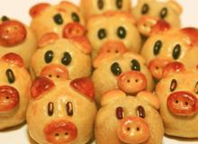 Cách làm bánh Trung thu nướng hình heo cho bé