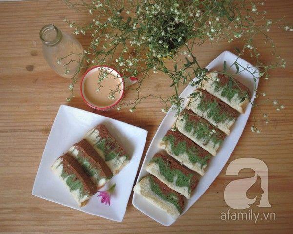 Xốp mịn thơm ngon món bánh bông lan trà xanh - Làm bánh