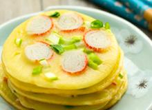 Bữa sáng đủ đầy với bánh trứng đẹp mắt ngon miệng