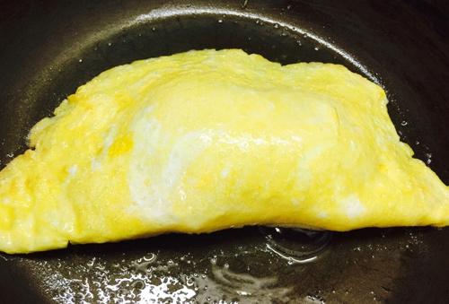 Trứng chiên phô mai hình nấm cho bé - 3