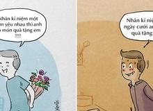 Tranh vui: Khác biệt khi yêu và sau cưới chân thực đến phát hờn