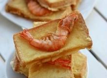 Bữa sáng đổi món với bánh mì chiên tôm giòn thơm ngon tuyệt