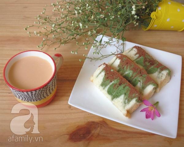 Bánh bông lan trà xanh