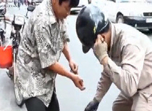 Câu cá trên đường phố Sài Gòn