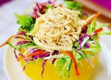 Ngon mắt ngon miệng với món salad gà ngũ sắc