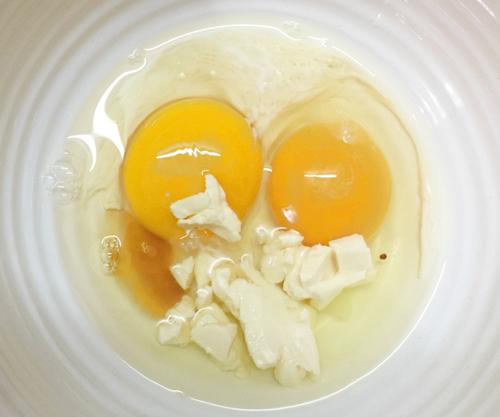 Trứng chiên phô mai hình nấm cho bé - 2