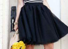 Tự may chân váy xòe mềm mại đầy nữ tính