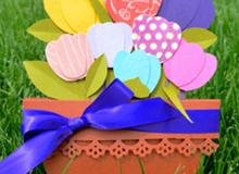 Tự chế thiệp hoa tulip rực rỡ sắc màu siêu xinh