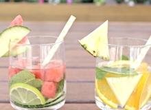 Nước ngâm hoa quả giải khát & detox (Infused water)