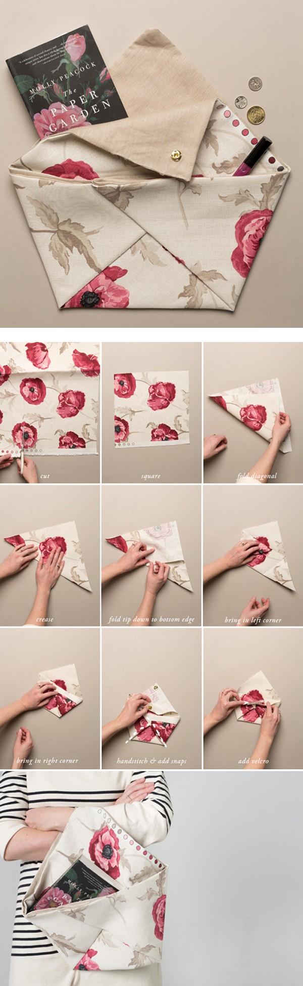 Những cách làm túi ví hay ho chẳng cần may vá 1