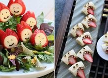 2 cách trang trí biến hóa với dâu tây siêu đáng yêu