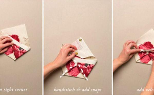 Những cách làm túi ví hay ho chẳng cần may vá - Mẹo vặt