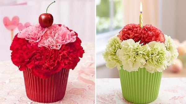 Đáng yêu kiểu cắm hoa hình bánh cupcake 14