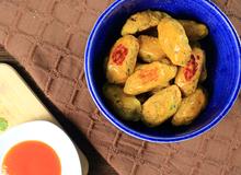 Món ngon cho bé: Bánh khoai lang nghiền trứng muối nướng