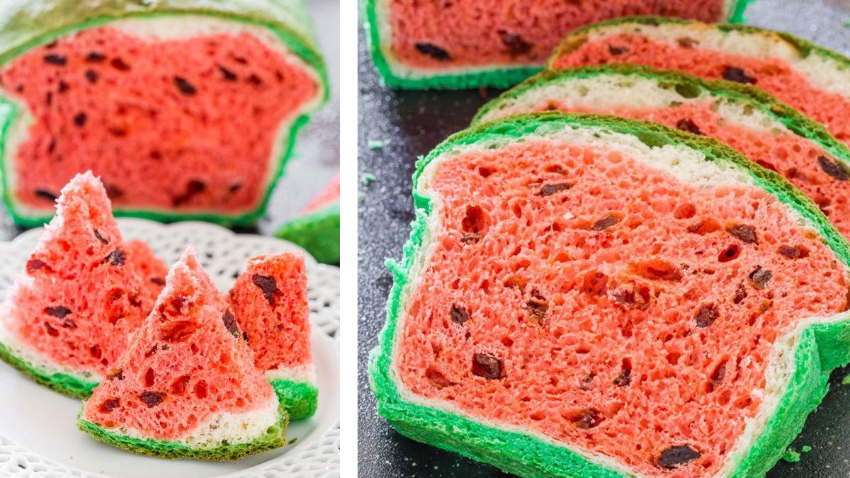 Học cách nướng bánh mì dưa hấu cực xinh nào
