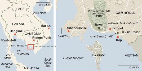 Bản đồ xác định vị trí thành phố Kep. ( (Ảnh: Internet)