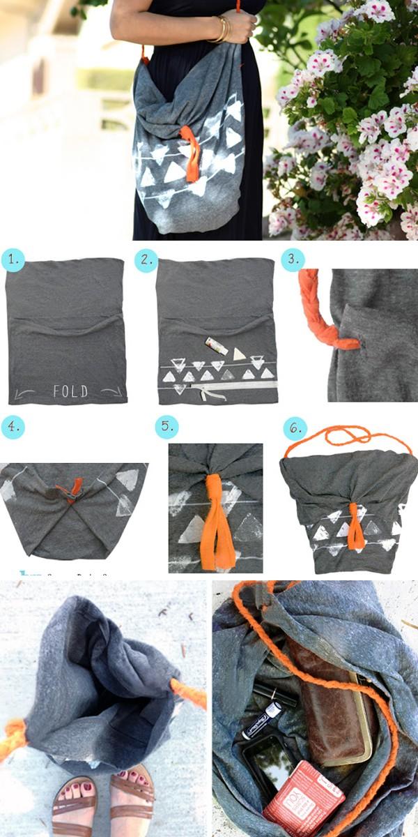 Những cách làm túi ví hay ho chẳng cần may vá 4