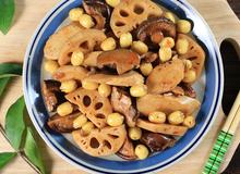 Món chay: Mì căn kho củ sen thơm hương