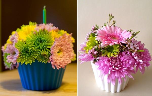 Đáng yêu kiểu cắm hoa hình bánh cupcake 13