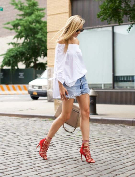 short jeans street style