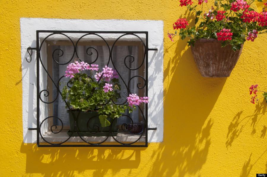 Không chỉ là màu sơn tường, mỗi căn nhà nơi đây luôn được chủ nhân cầu kỳ trang trí bằng các chậu hoa, thường thì màu của hoa và cây cảnh luôn cùng với tông màu của căn nhà đó. Ảnh: Huffingtonpost.com