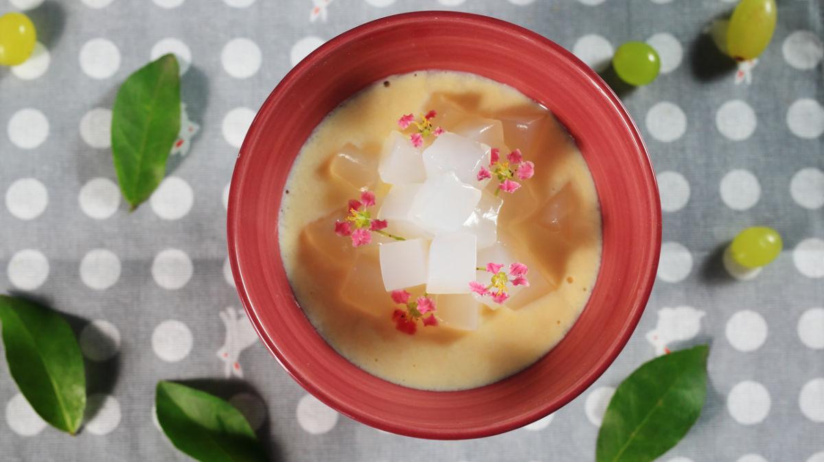 Món ăn mùa Thu: Chè trứng kem sữa thạch dừa