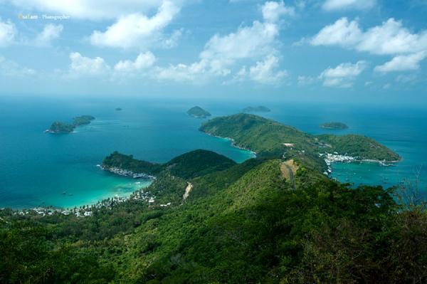 Quần đảo Nam Du đẹp tuyệt vời khi nhìn từ trên cao. Ảnh: Julian Tran