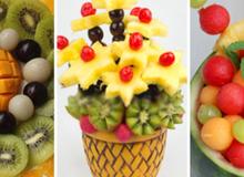 3 cách cắt tỉa và bày trái cây đẹp ấn tượng