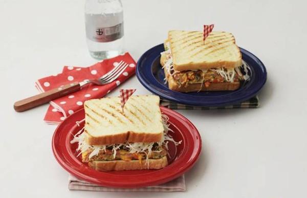 Bánh kẹp sandwich thơm ngon cho bữa sáng đầy dưỡng chất 1