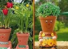 Những ý tưởng trang trí nhà hay ho với chiếc chậu đất trồng cây