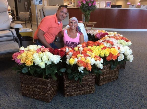 tặng hoa cho vợ