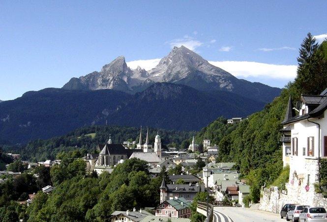 Một ngôi làng trong công viên quốc gia Berchtesgaden - Ảnh: wp